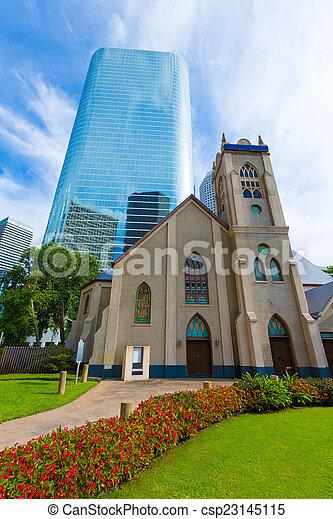 houston, 我們, antioch, 教堂, 都市風景, 得克薩斯 - csp23145115