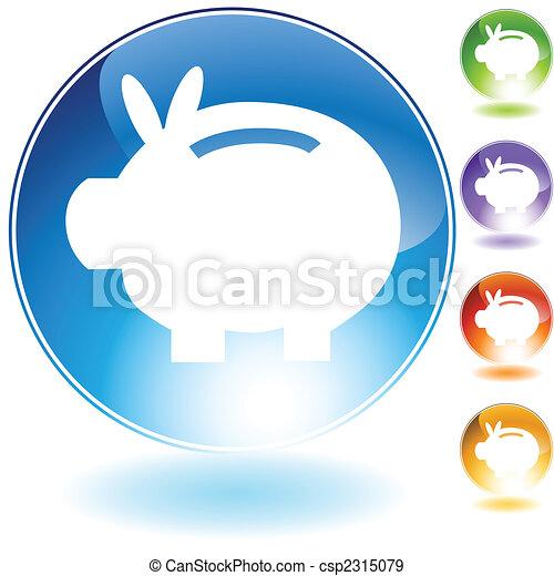 Piggy Bank Icon - csp2315079