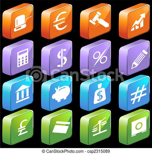 banking 3d set - csp2315089