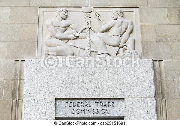 federal, comisión, comercio de edificio - csp23151691