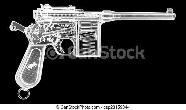 x Ray Line Drawing Stock Illustration x Ray Gun