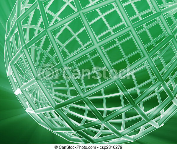 Globe wireframe abstract - csp2316279
