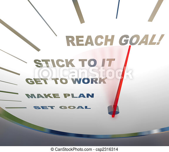 Speedometer - Reaching Your Goal - csp2316314