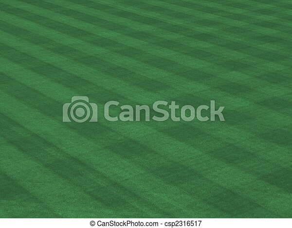 Perfect Grass Showing Mow Patterns at Major League Ballpark - csp2316517