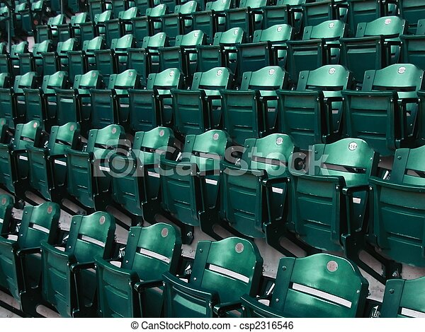 Rows of Bleacher Seats at Major League Ball Park - csp2316546