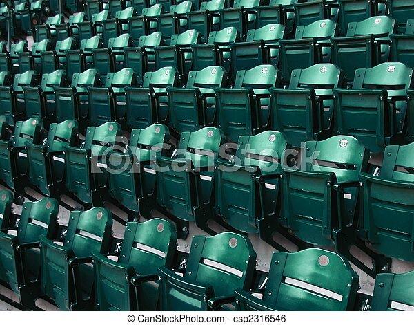 Rows of Bleacher Seats at Major League Ball Park - csp2316546