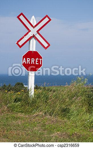 train crossing sign - csp2316659