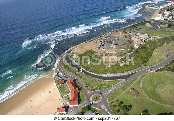 An aerial view of Fort Scratchley - Newcastle Australia - csp2317767