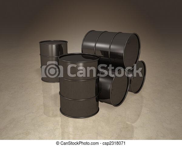Oil Barrel Drawing Oil Barrels Csp2318071