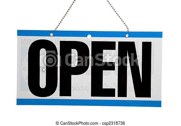 開いた, ビジネス, 印 - csp2318736