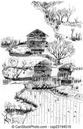 436427020115130063 besides 367395282073523906 together with Village And Farmland Sketch 23194516 together with Part3 also Royalty Free Stock Image Canvas Shoes Image7036166. on village architecture design