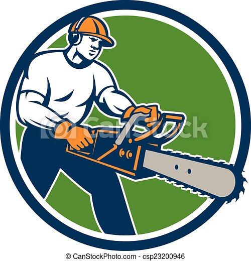 A Chainsaw Tree Clip Art