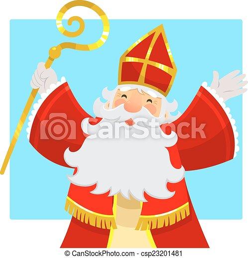cartoon Sinterklaas - csp23201481