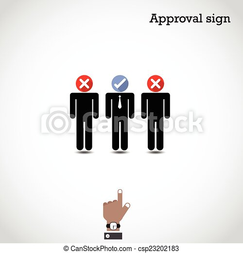 Boss choosing the perfect businessman for the job. - csp23202183