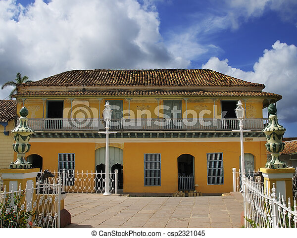 images de exotique maison trinidad cuba typical architecture csp2321045 recherchez. Black Bedroom Furniture Sets. Home Design Ideas