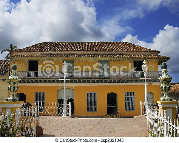 images de exotique maison trinidad cuba typical architecture csp2321045 recherchez. Black Bedroom Furniture Sets. Home Design Ideas