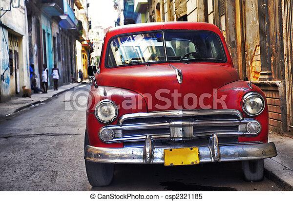 bil, Havanna, gammal - csp2321185