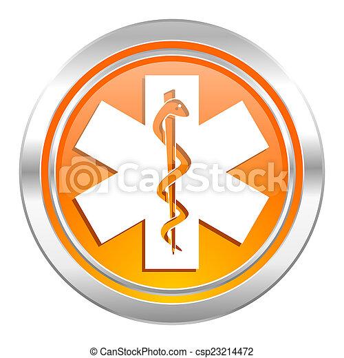 icona, ospedale, segnale emergenza - csp23214472