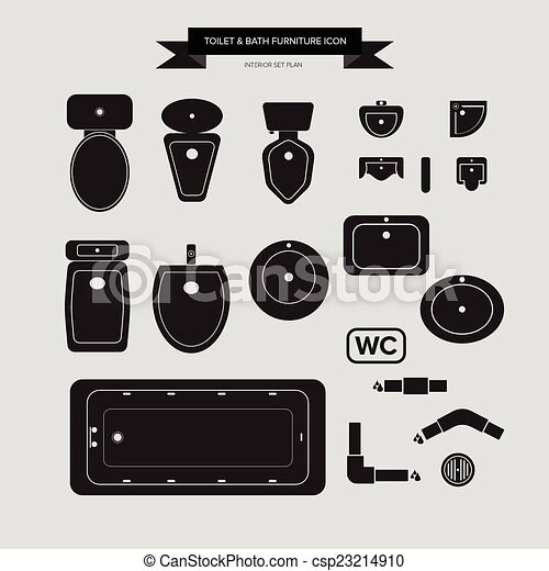 Kitchen Clipart Black And White Plan View