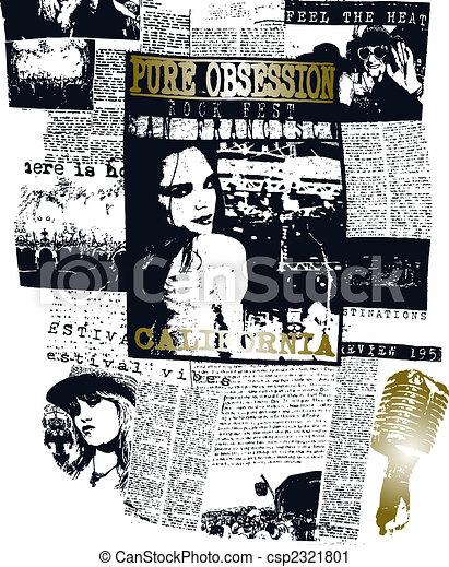 woman newspaper poster pop art design - csp2321801
