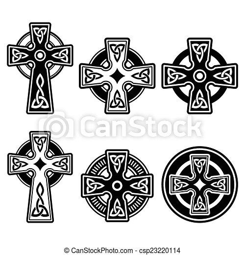 Vector Clip Art of Irish, Scottish Celtic cross - Celtic crosses ...