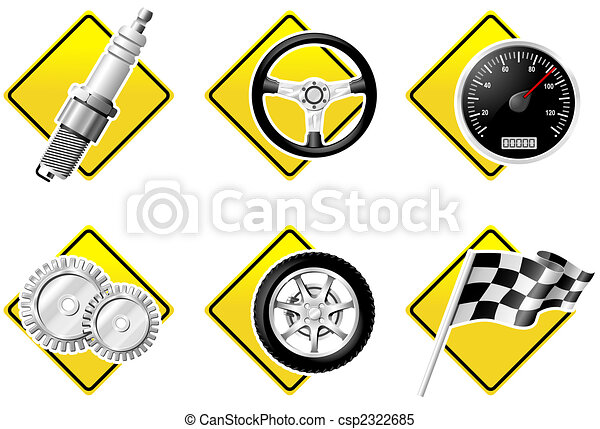 Automobile and Racing icons - part two - csp2322685