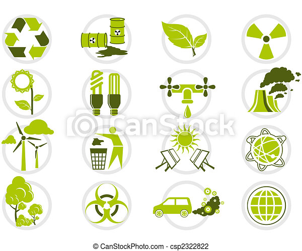 Energy saving and environmental protection icon set - csp2322822