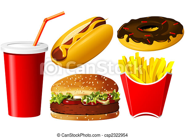 Fast food icon set - csp2322954