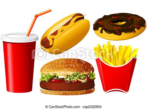 Fast food icon set - csp2322954