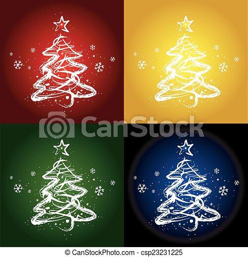 Christmas trees.  - csp23231225