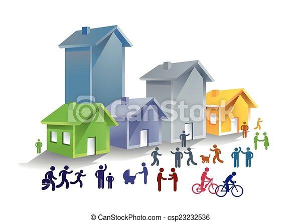 Vectors of Community life csp23232536 - Search Clip Art ...
