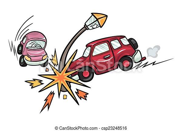Carros chocados caricatura - Imagui