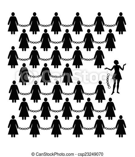 Archivio illustrazioni di femminista movimento concetto for Concetto aperto di piani coloniali