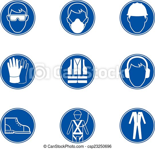 eps vectors of safety at work signs different safety at