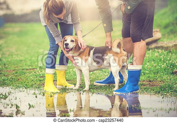 photo de couple promenade chien pluie jeune jeune couple csp23257440 recherchez des. Black Bedroom Furniture Sets. Home Design Ideas