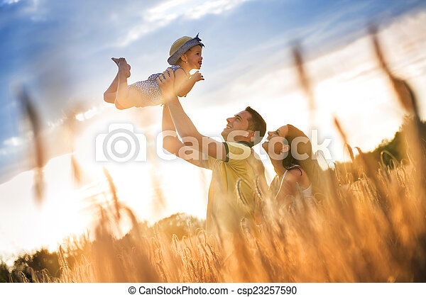 Family summer spending time together in nature - csp23257590