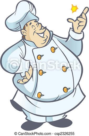 Clipart vettoriali di cuoco paffuto chef cartone - Clipart cuisine gratuit ...