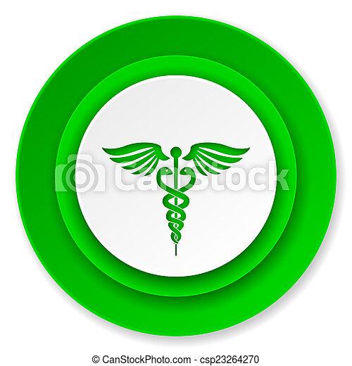 icona, ospedale, segnale emergenza - csp23264270