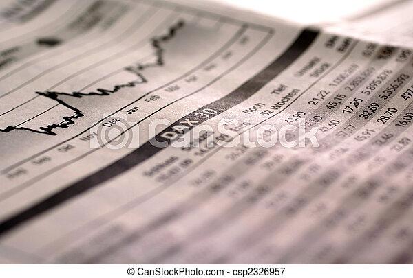 索引, 落下, 股票 - csp2326957