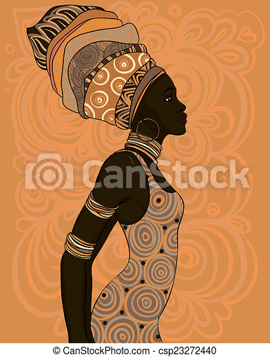 Dessin De Femme Turban Traditionnel Am 233 Ricain Joli