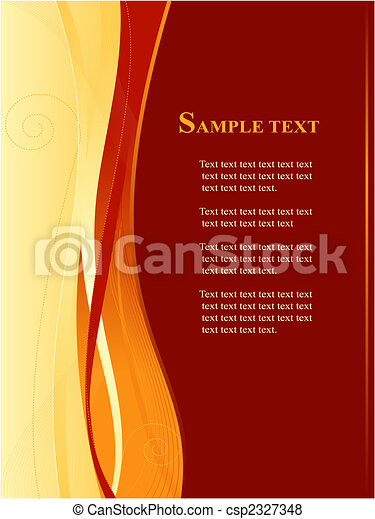 Red and gold business, web template - csp2327348