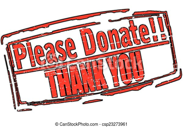 Clip Art Vector of Please donate - Rubber stamp with text ...