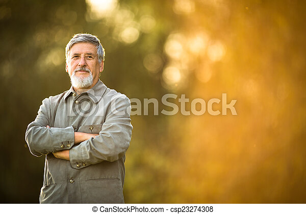 Portrait of a senior man outdoors