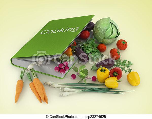 clip art de ouvert livre recette livre cuisine vide ouvert livre csp23274625. Black Bedroom Furniture Sets. Home Design Ideas
