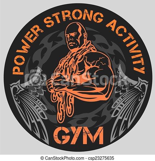 vectors of gym bodybuilding vector emblem bodybuilding