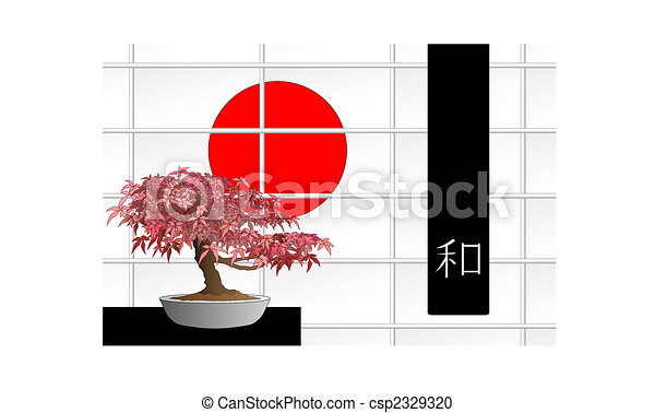 Japanese maple bonsai - csp2329320
