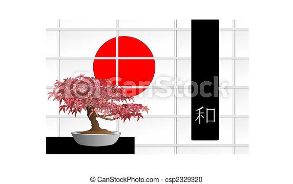 Japanese maple bonsai - csp2329320