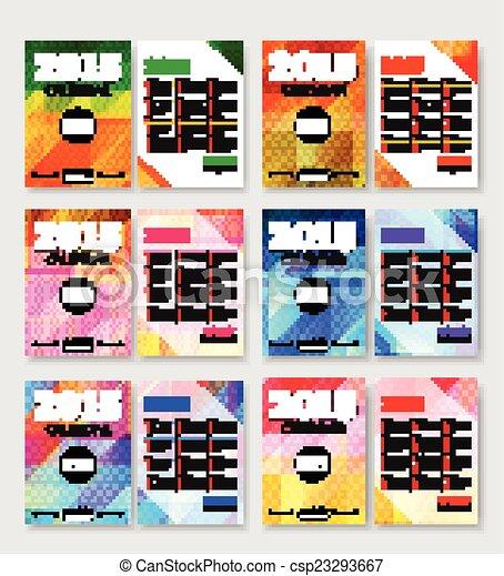Set Of 2015 Calendar Template Brochure Royalty Free Vector – Calendar Flyer Template
