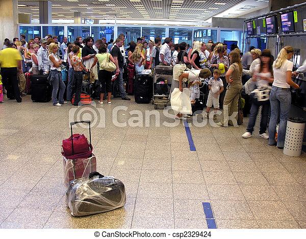 airport passenger luggage - csp2329424