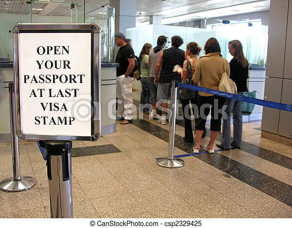 people visa sign - csp2329425